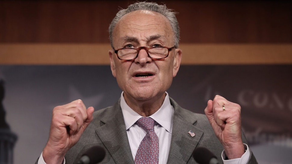 Senate Minority Leader Chuck Schumer (D-NY) speaks during a press conference at the U.S. Capitol July 13, 2017 in Washington, DC.