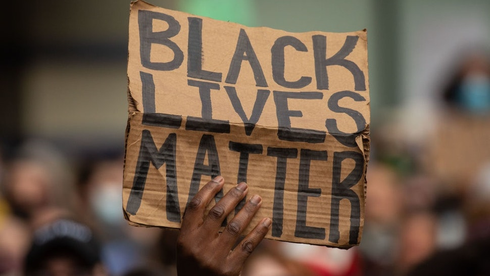 SEATTLE, WA - JUNE 14: Black Lives Matter protesters rally at Westlake Park before marching through the downtown area on June 14, 2020 in Seattle, United States.