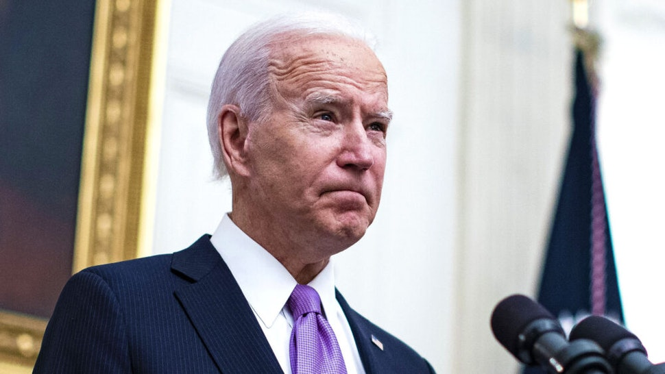 U.S. President Joe Biden pauses while speaking on his administrations Covid-19 response in the State Dining Room of the White House in Washington, D.C., U.S., on Thursday, Jan. 21, 2021. Biden in his first full day in office plans to issue a sweeping set of executive orders to tackle the raging Covid-19 pandemic that will rapidly reverse or refashion many of his predecessor's most heavily criticized policies.