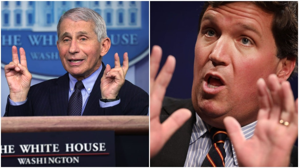 Anthony Fauci and Tucker Carlson
