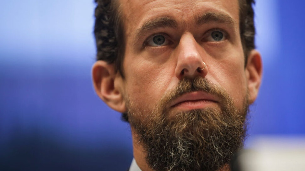 WASHINGTON, DC - SEPTEMBER 5: Twitter chief executive officer Jack Dorsey testifies during a House Committee on Energy and Commerce hearing about Twitter's transparency and accountability, on Capitol Hill, September 5, 2018 in Washington, DC. Earlier in the day, Dorsey faced questions from the Senate Intelligence Committee about how foreign operatives use their platforms in attempts to influence and manipulate public opinion.