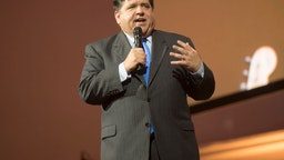 JB Pritzker, governor elect of the state of Illinois speaks at the Illinois Bicentennial party at Navy Pier in Chicago, Illinois, December 3, 2018.