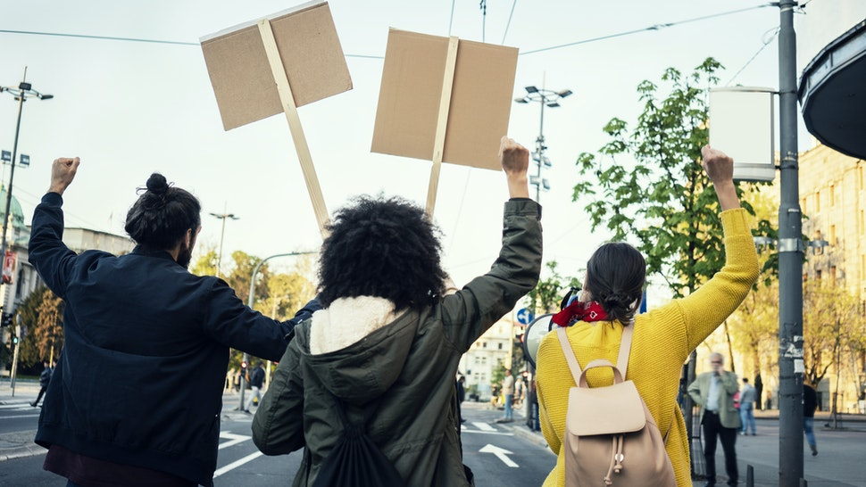 Young Protesters - stock photo