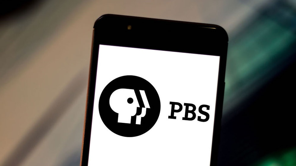 In this photo illustration the Public Broadcasting Service (PBS) logo is displayed on a smartphone.