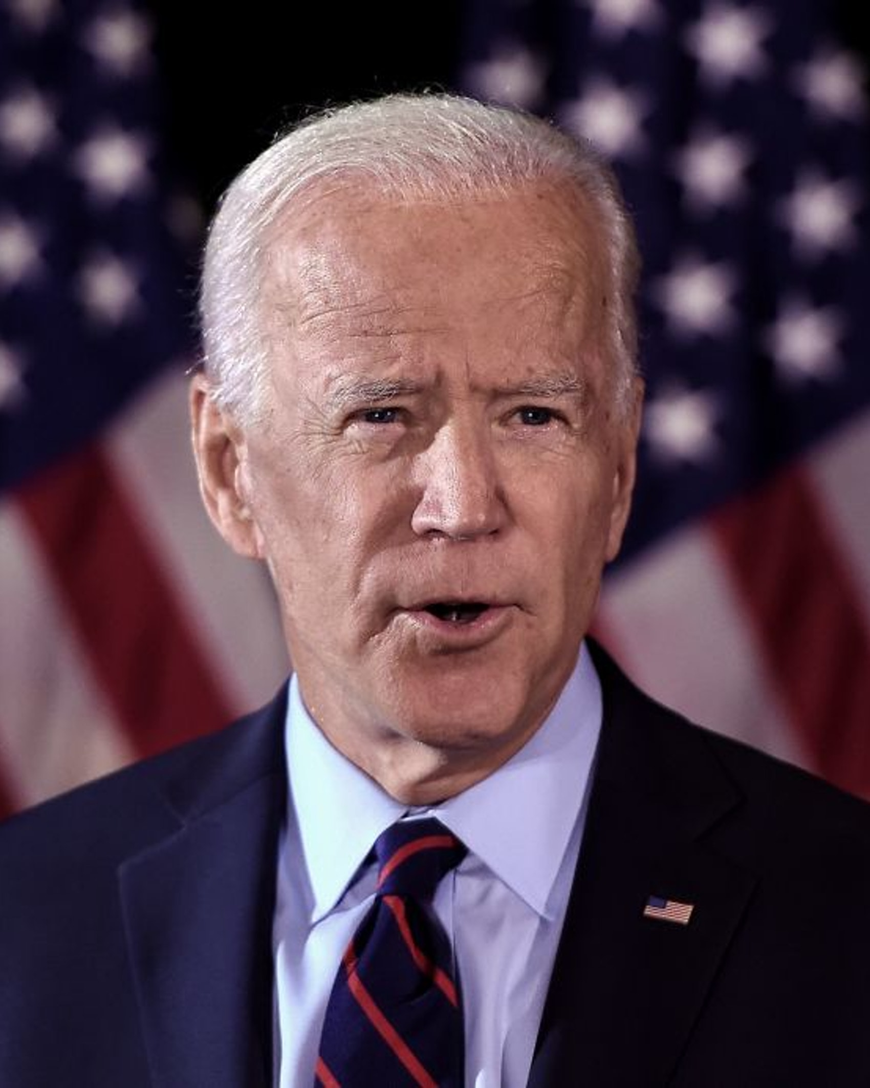 Democratic presidential hopeful Joe Biden makes a statement on Ukraine during a press conference at the Hotel Du Pont on September 24, 2019, in Wilmington, Delaware. (Photo by Olivier Douliery / AFP) (Photo by OLIVIER DOULIERY/AFP via Getty Images)