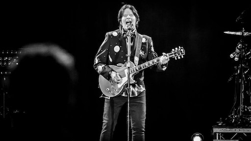 LONDON, UNITED KINGDOM - OCTOBER 25: American musician John Fogerty performing live on stage during Bluesfest at the O2 Arena in London, on October 25, 2018. (Photo by Alison Clarke/Future Publishing via Getty Images)