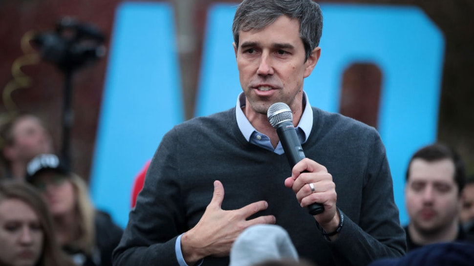 Democratic presidential candidate, former Rep. Beto O'Rourke (D-TX) addresses his supporters after announcing he was dropping out of the presidential race before the start of the Liberty and Justice Celebration being held at the Wells Fargo Arena on November 01, 2019 in Des Moines, Iowa.