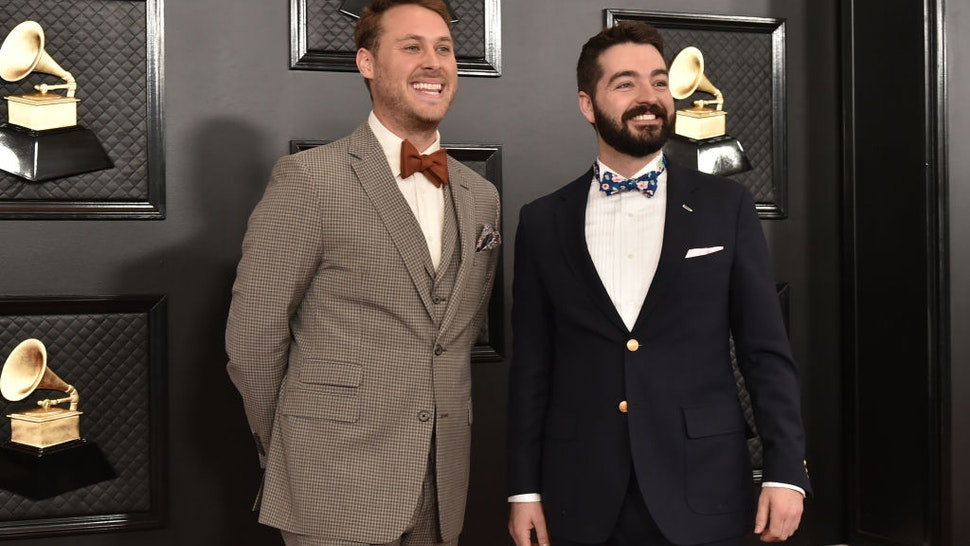 Joe Mailander and Justin Lansing of The Okee Dokee Brothers attend the 62nd Annual Grammy Awards at Staples Center on January 26, 2020 in Los Angeles, CA.