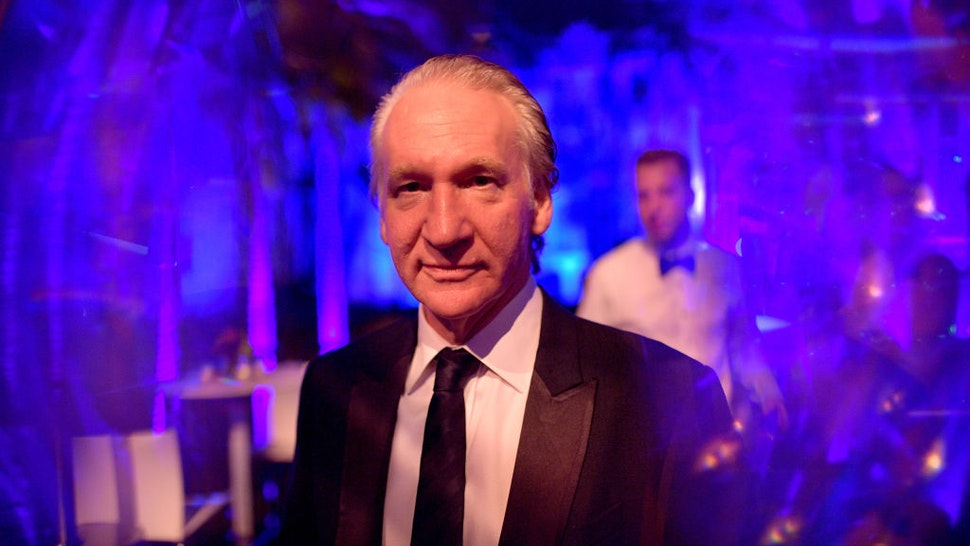 BEVERLY HILLS, CALIFORNIA - FEBRUARY 09: (EDITORS NOTE: Image was created in camera using a reflective surface.) Bill Maher attends the 2020 Vanity Fair Oscar Party hosted by Radhika Jones at Wallis Annenberg Center for the Performing Arts on February 09, 2020 in Beverly Hills, California. (Photo by Matt Winkelmeyer/VF20/WireImage)