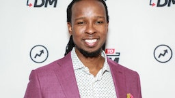 """NEW YORK, NY - MARCH 10: (EXCLUSIVE COVERAGE) IBRAM X KENDI visits BuzzFeed's """"AM To DM"""" on March 10, 2020 in New York City."""