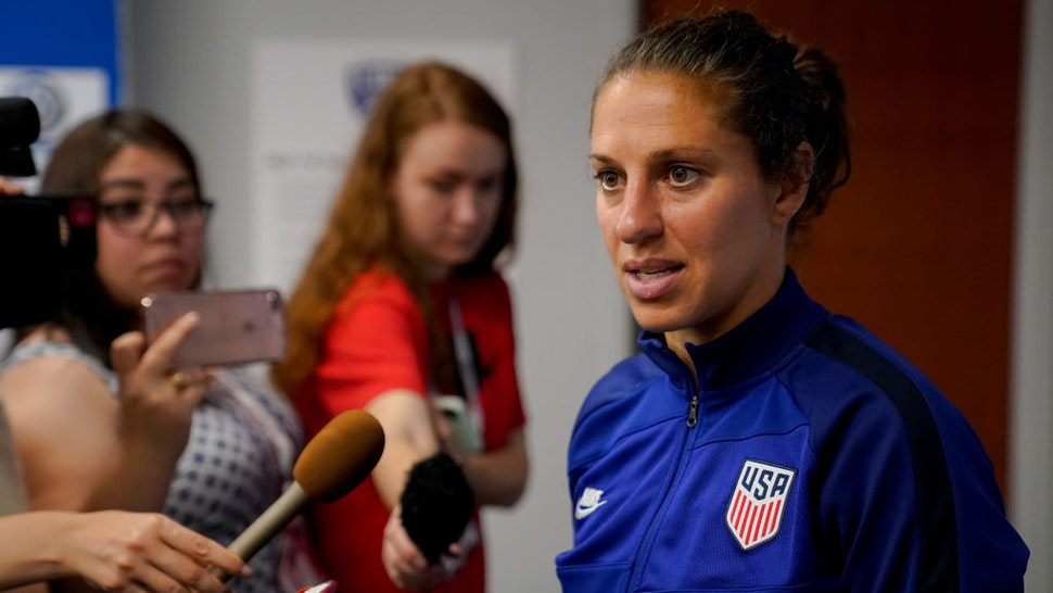 Carli Lloyd #10 of the United States during a game between Japan and USWNT at Toyota Stadium on March 11, 2020 in Frisco, Texas.
