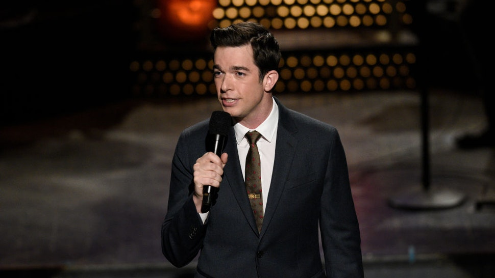 Pictured: Host John Mulaney during the Monologue on Saturday, October 31, 2020