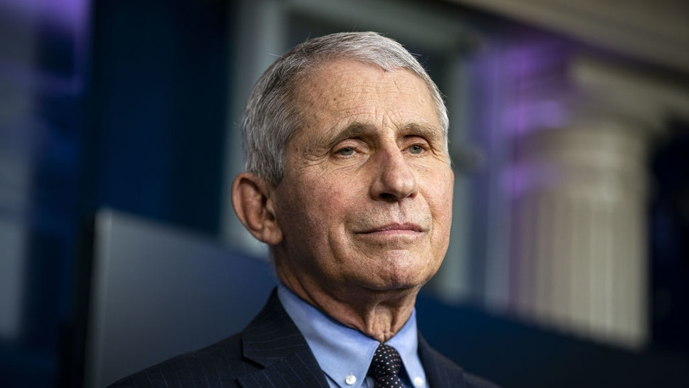 Anthony Fauci, director of the National Institute of Allergy and Infectious Diseases, listens during a news conference in the James S. Brady Press Briefing Room at the White House in Washington, D.C., U.S., on Thursday, Jan. 21, 2021.