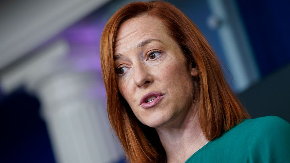 White House Press Secretary Jen Psaki speaks during a daily press briefing at the White House on January 25, 2021 in Washington, DC.