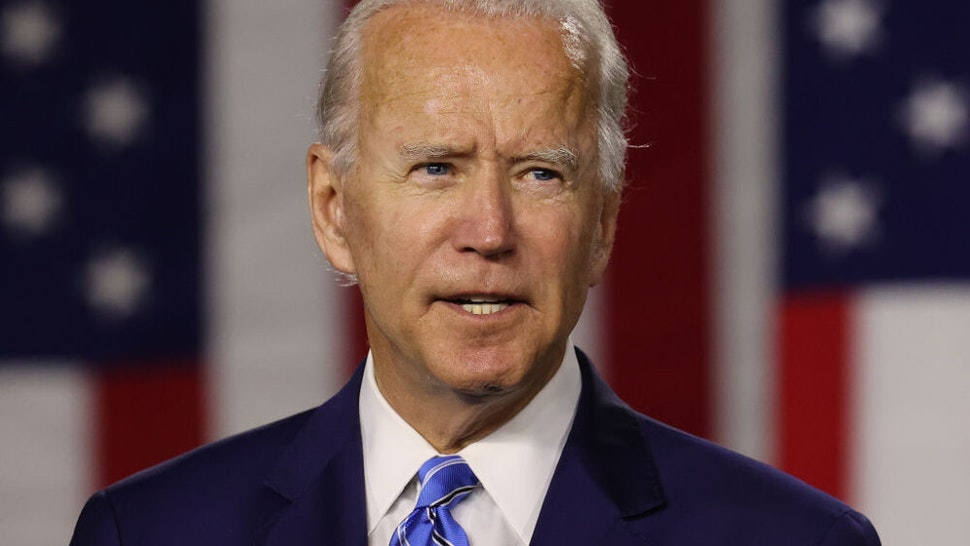 WILMINGTON, DELAWARE - JULY 14: Democratic presidential candidate former Vice President Joe Biden speaks at the Chase Center July 14, 2020 in Wilmington, Delaware. Biden delivered remarks on his campaign's 'Build Back Better' clean energy economic plan.