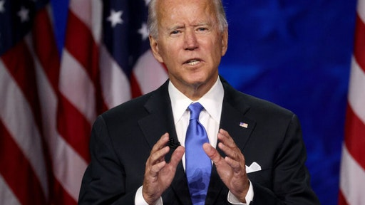 WILMINGTON, DELAWARE - AUGUST 20: Democratic presidential nominee Joe Biden delivers his acceptance speech on the fourth night of the Democratic National Convention from the Chase Center on August 20, 2020 in Wilmington, Delaware. The convention, which was once expected to draw 50,000 people to Milwaukee, Wisconsin, is now taking place virtually due to the coronavirus pandemic.
