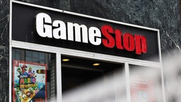 NEW YORK, NEW YORK - JANUARY 27: GameStop store signage is seen on January 27, 2021 in New York City. Stock shares of videogame retailer GameStop Corp has increased 700% in the past two weeks due to amateur investors.