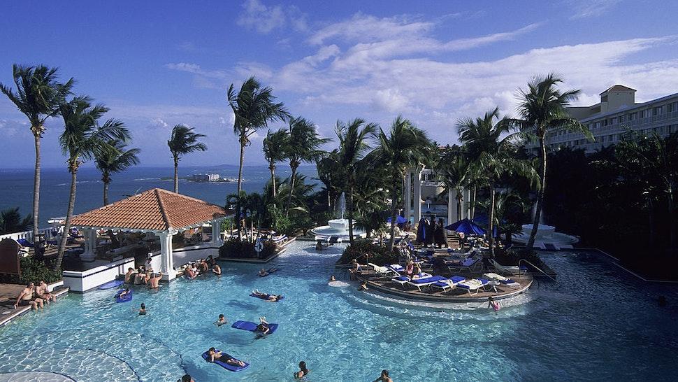 Puerto Rico,near Fajardo, El Conquistidor Resort, Swimming Pool.