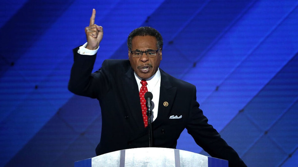 PHILADELPHIA, PA - JULY 28: U.S. Representative Emanuel Cleaver (D-MO) delivers remarks on the fourth day of the Democratic National Convention at the Wells Fargo Center, July 28, 2016 in Philadelphia, Pennsylvania. Democratic presidential candidate Hillary Clinton received the number of votes needed to secure the party's nomination. An estimated 50,000 people are expected in Philadelphia, including hundreds of protesters and members of the media. The four-day Democratic National Convention kicked off July 25.