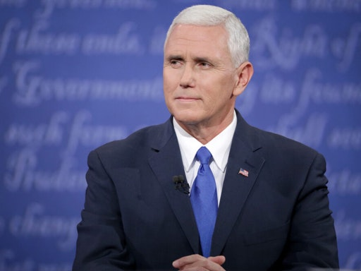 FARMVILLE, VA - OCTOBER 04: Republican vice presidential nominee Mike Pence listens during the Vice Presidential Debate with Democratic vice presidential nominee Tim Kaine at Longwood University on October 4, 2016 in Farmville, Virginia. This is the second of four debates during the presidential election season and the only debate between the vice presidential candidates.