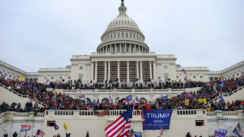 WASHINGTON D.C., USA - JANUARY 6: US President Donald Trumps supporters gather outside the Capitol building in Washington D.C., United States on January 06, 2021.