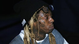 """MIAMI, FLORIDA - FEBRUARY 01: Lil Wayne attends Lil Wayne's """"Funeral"""" album release party on February 01, 2020 in Miami, Florida."""