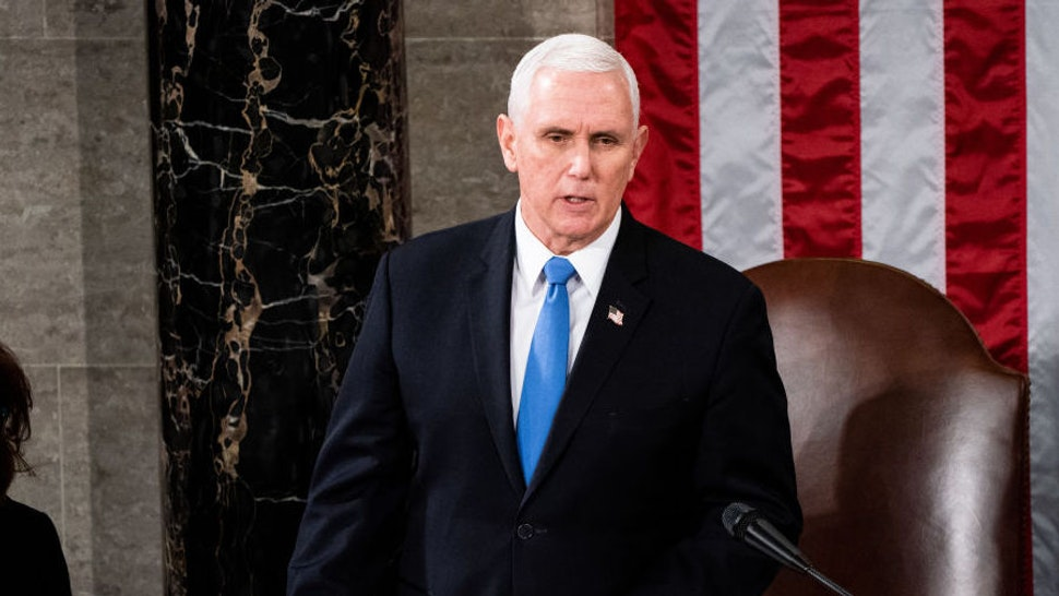 House Speaker Nancy Pelosi and Vice President Mike Pence preside over a Joint session of Congress to certify the 2020 Electoral College results on Capitol Hill in Washington, DC on January 6, 2020.