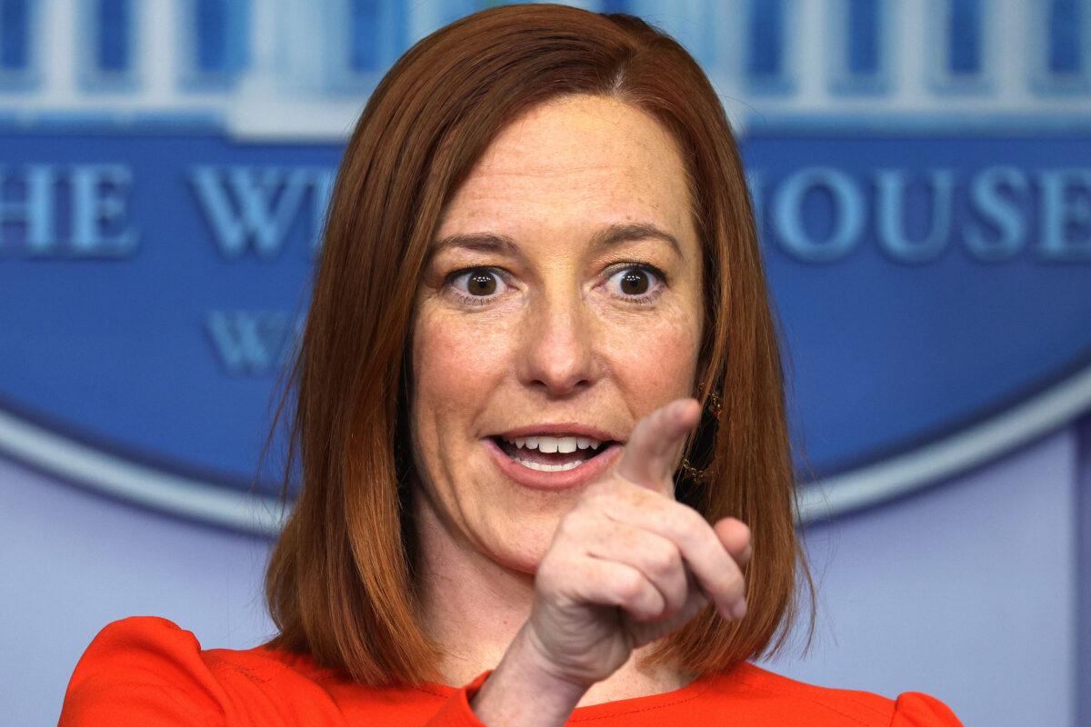 Press Secretary Jen Psaki On Biden Allegedly Violating His Own Mask Order: He Was 'Celebrating'