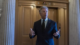 Senator Rand Paul, a Republican from Kentucky, walks to the Senate Chamber for a roll call vote at the U.S. Capitol in Washington, D.C., U.S. on Wednesday, Sept. 30, 2020. House leaders postponed a vote on a Democrat-only stimulus bill to give Treasury SecretarySteven Mnuchinand House SpeakerNancy Pelosi one more day to negotiate a compromise pandemic relief packag