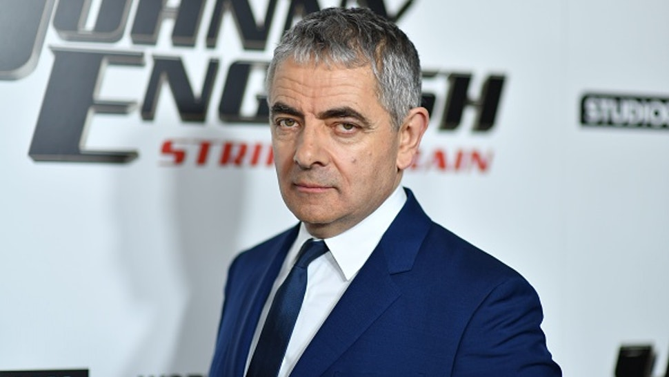 "British actor/comedian Rowan Atkinson arrives for the special screening of ""Johnny English Strikes Again"" at AMC Lincoln Square in New York on October 23, 2018."