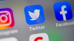 A picture taken on September 4, 2019 shows logos of US social networking websites Instagram, Twitter and Facebook, displayed on smart-phone screen, in Lille, northern France. (Photo by Denis Charlet / AFP)