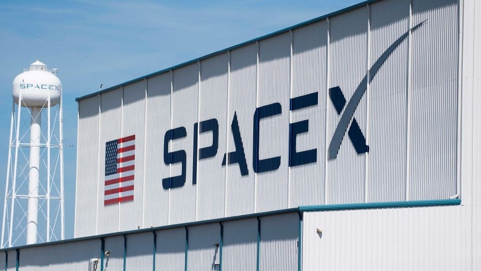 The SpaceX hangar on Pad 39A on March 1, 2019, at Kennedy Space Center in Florida on March 1, 2019.