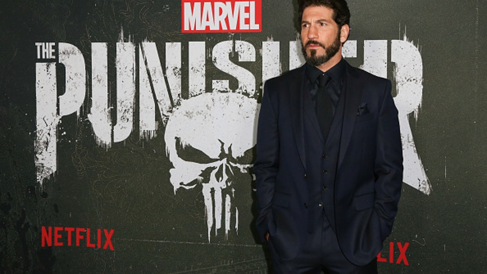 "HOLLYWOOD, CALIFORNIA - JANUARY 14: Actor Jon Bernthal attends Marvel's ""The Punisher"" Los Angeles premiere at the ArcLight Hollywood on January 14, 2019 in Hollywood, California."