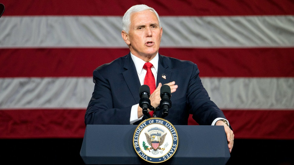 MILNER, GA - JANUARY 04: U.S. Vice President Mike Pence speaks during a visit to Rock Springs Church to campaign for GOP Senate candidates on January 4, 2021 in Milner, Georgia. Tomorrow is the final day for Georgia voters to vote for U.S. Senators Republican incumbents David Perdue and Kelly Loeffler or Democratic Candidates John Ossoff and Raphael Warnock.