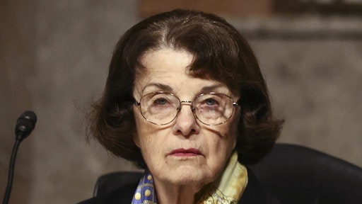 Senator Dianne Feinstein, a Democrat from California and ranking member of the Senate Judiciary Committee, listens during a hearing in Washington, D.C., U.S., on Tuesday, Nov. 18, 2020. Zuckerberg and Dorsey will be forced to defend themselves from accusations by Republican senators that their labeling of President Donald Trump's social-media posts claiming voter fraud as false or misleading amounts to censorship of conservative content. Photographer: