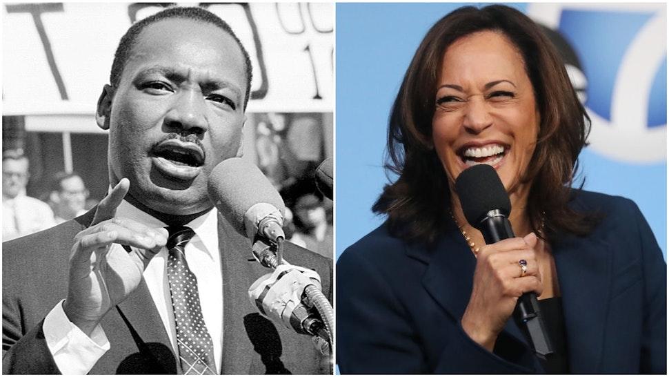 Martin Luther King Jr. and Kamala Harris