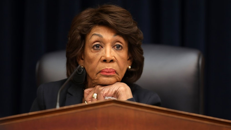 WASHINGTON, DC - MARCH 12: House Financial Services Committee Chairwoman Maxine Water (D-CA) questions Wells Fargo and Company CEO Timothy Sloan as he testifies before the committee in the Rayburn House Office Building on Capitol Hill March 12, 2019 in Washington, DC. Sloan answered questions from committee members about his leadership of the 166-year-old bank following the disclosure that staff had created millions of fake bank accounts in order to hit their high-pressure goals. (Photo by