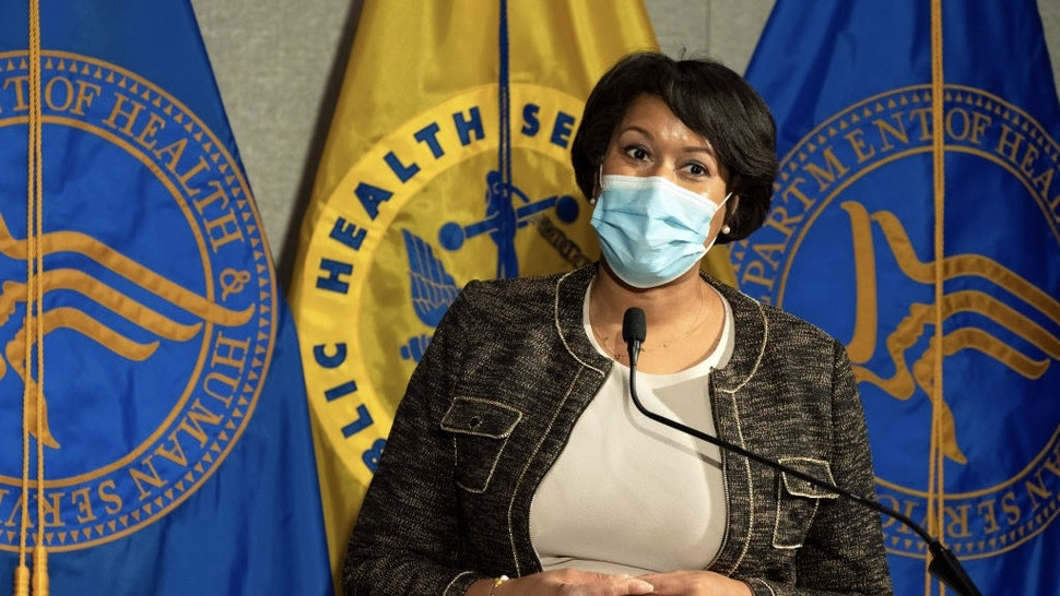 District of Columbia Mayor Muriel Bowser speaks during a news conference about the COVID-19 vaccine with Health and Human Services Secretary Alex Azar and Surgeon General Jerome Adams at George Washington University Hospital, Monday, Dec. 14, 2020, in Washington