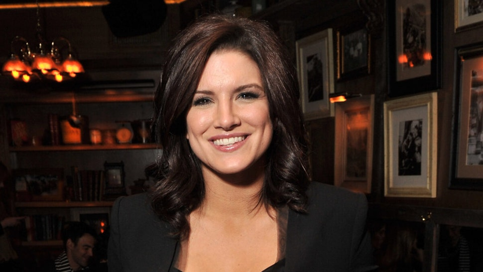 """Actress Gina Carano attends the Cinema Society & Blackberry Bold screening after party for """"Haywire"""" at Sons of Essex on January 18, 2012 in New York City."""