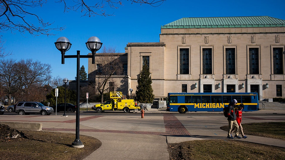 The Horace H. Rackham School of Graduate Studies Building is viewed on the central campus March 24, 2015 at the University of Michigan in Ann Arbor, Michigan.