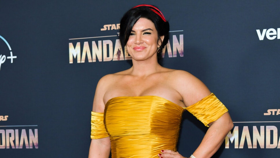 "Gina Carano attends the Premiere of Disney+'s ""The Mandalorian"" at El Capitan Theatre on November 13, 2019 in Los Angeles, California."