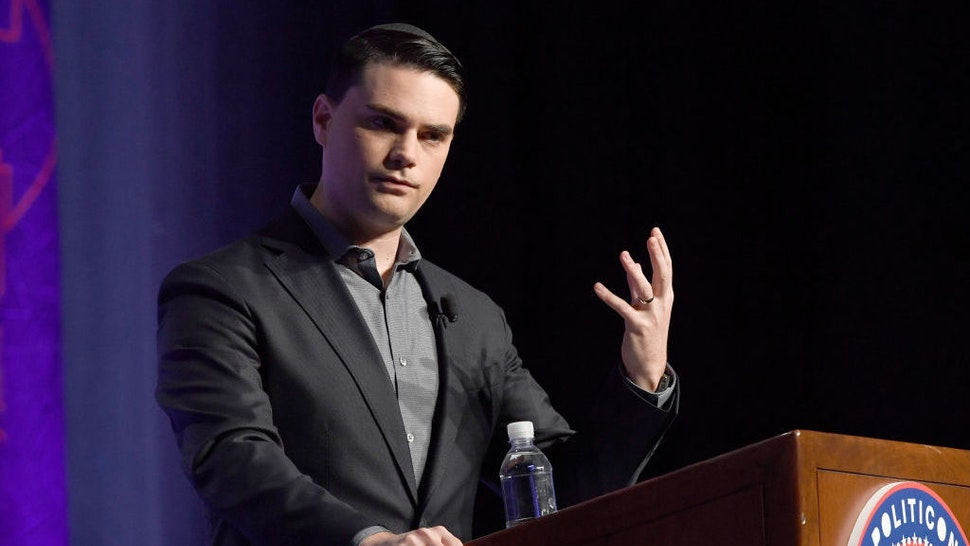LOS ANGELES, CA - OCTOBER 21: Ben Shapiro speaks onstage at Politicon 2018 at Los Angeles Convention Center on October 21, 2018 in Los Angeles, California. (Photo by Michael S. Schwartz/Getty Images)
