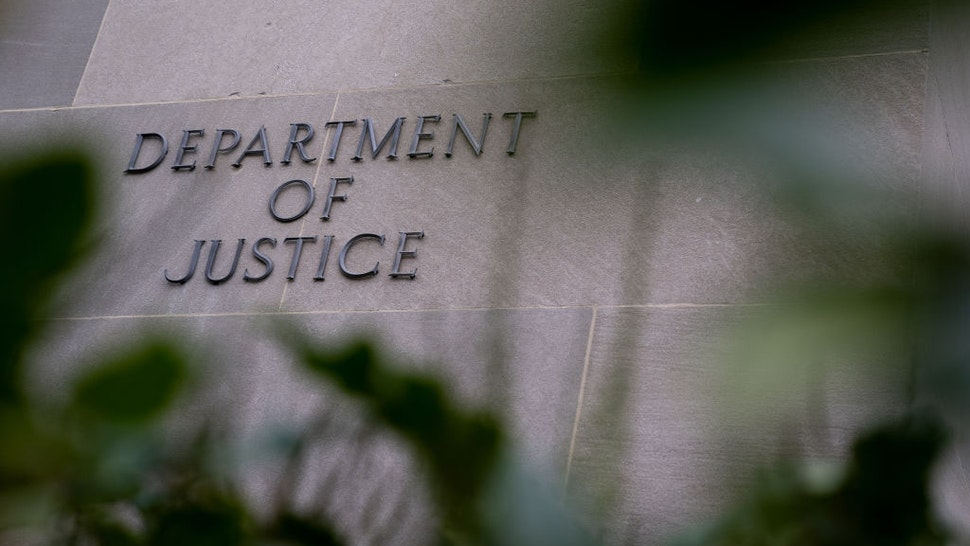 The Department of Justice building in Washington, D.C., U.S., on Friday, Dec. 4, 2020. Prospects for a pandemic relief package before the end of the year grew substantially as senior Republicans warmed to the idea of using a $908 billion proposal from a bipartisan group of lawmakers as the basis for a deal.