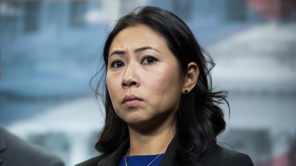 UNITED STATES - SEPTEMBER 20: Rep. Stephanie Murphy, D-Fla., conducts a news conference in the Capitol Visitor Center on the eviction of Congressional offices from Veterans Affairs Department facilities on Friday, September 20, 2019. (Photo By Tom Williams/CQ Roll Call)
