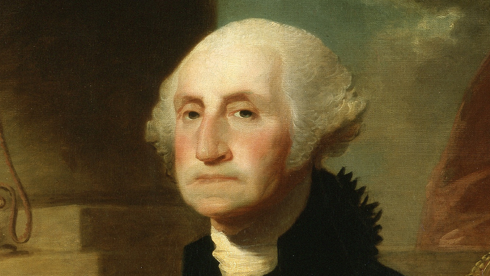 George Washington, portrait painting by Constable-Hamilton, 1794. From the New York Public Library.