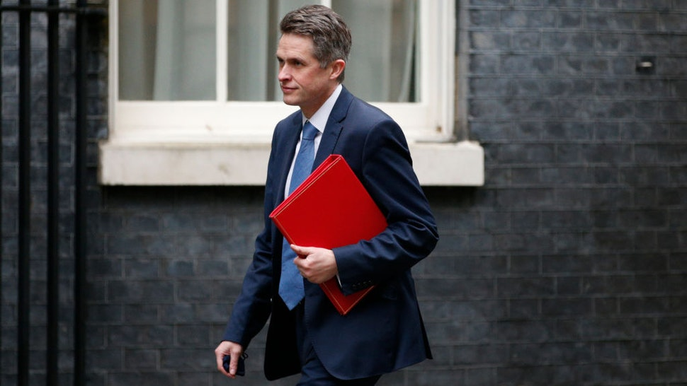 Secretary of State for Education Gavin Williamson, Conservative Party MP for South Staffordshire, walks along Downing Street in London, England, on January 27, 2021.
