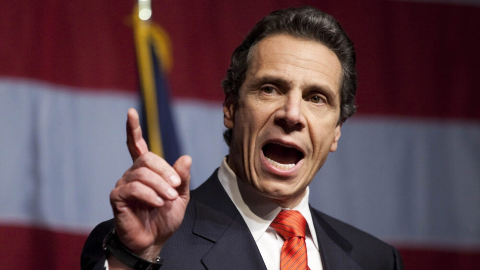 NEW YORK - NOVEMBER 02: New York Governor-elect Andrew Cuomo speaks to supporters at the Sheraton New York on election night, November 2, 2010 in New York City. Cuomo resoundingly defeated his Tea Party-backed opponent, Republican candidate Carl Paladino.