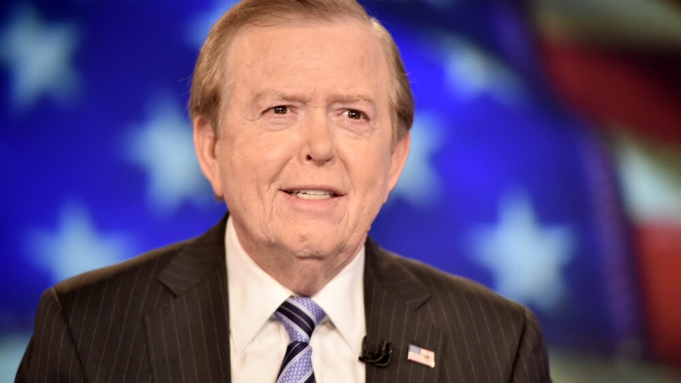 "NEW YORK, NY - DECEMBER 13: Lou Dobbs hosts ""Lou Dobbs Tonight"" at Fox Business Network Studios on December 13, 2018 in New York City."