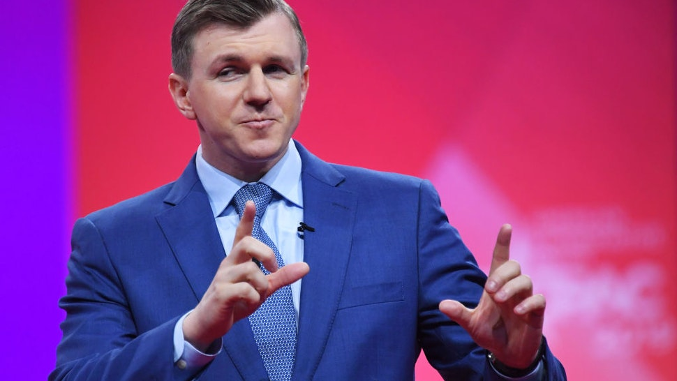 Conservative political activist James O'Keefe speaks during the annual Conservative Political Action Conference (CPAC) in National Harbor, Maryland, on March 1, 2019.