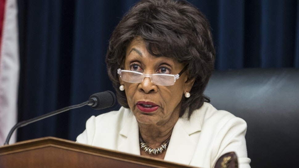 WASHINGTON, DC - APRIL 09: House Financial Services Committee Chairman Maxine Waters (D-CA) speaks during a House Financial Services Committee Hearing on Capitol Hill on April 9, 2019 in Washington, DC. U.S. Secretary of Treasury Steve Mnuchin is testifying on the state of the international financial system.